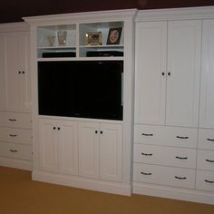 Bedroom on pinterest bedroom cabinets gray flats and cabinets Master bedroom tv wall unit