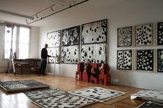 American artist Mel Kendrick (b.1949) in his studio. via the artist's site