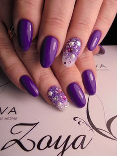 45 Purple Nail Art Designs Art And Design 45 Lila Nail Art Designs Kunst und Design Nagelideen lila – Nail Ideas Lilac Nails, Purple Nail Art, Lavender Nails, Purple Nail Designs, Purple Nails With Design, Nails Design, Spring Nail Art, Spring Nails, Summer Nails