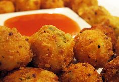 #Cheese and #Jalepeno #Croquettes: Barrel Shaped deep fried Fritters served with Sweet Chilly sauce.