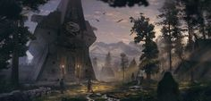 ArtStation - Hawk Temple, Simon Fetscher