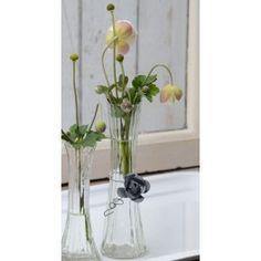 kr. 28,- Ib Laursen Vase - Rillet - H 14 cm