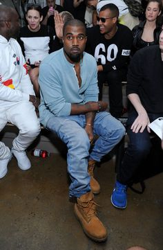 Kanye West wearing Timberland 6-Inch Boot Wheat