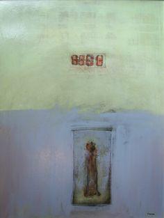 "Michael Pittman, Paroxysm #2, mixed media on panel, 32"" x 24"", $1000 framed"