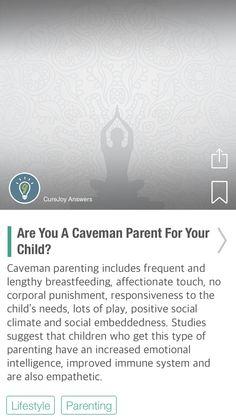 Are You A Caveman Parent For Your Child? - via @CureJoy