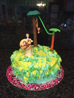 Tarzan themed Birthday Party Cake.