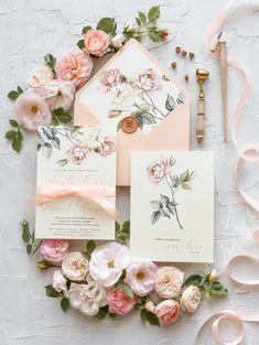 Brown gold Damas personnalisé mariage invitations jour soir-K