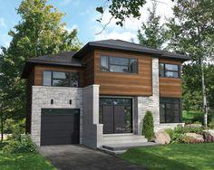 Cette élégante maison à étage de style urbain se distingue par sa porte d'entrée…
