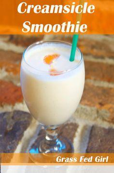 Easy Paleo Creamsicle Smoothie (dairy & gluten free) | Grass Fed Girl - http://www.grassfedgirl.com/easy-paleo-creamsicle-smoothie-dairy-and-gluten-free/?utm_campaign=coschedule&utm_source=pinterest&utm_medium=Uprising%20Wellness