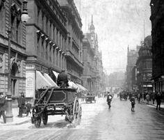 Old photograph of Buchanan Street in Glasgow, Scotland