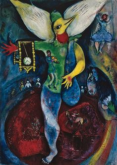 For the first time in the United States, artwork by #MarcChagall from the 1930s and 1940s is gathered to reveal a lesser-known side of the artist. Beginning with the richly evocative paintings of his years in France, the exhibition illuminates an artist deeply responsive to the suffering inflicted by war and to his own exile and personal losses. By the late 1940s, Chagall returns to colorful, joy-filled work celebrating love. #artist #art #artworks #Marc-Chagall #marcchagall #jewish