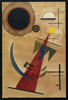 'Red in a Pointed Shape' - (1925) - Wassily Kandinsky.
