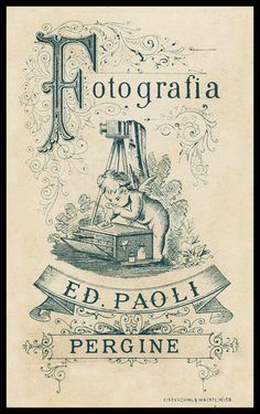 Vintage Photography Trade Card