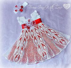 crochet baby dress - with some tweaking to the bodice this could be really beautiful!