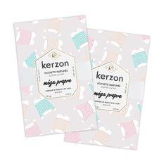 Glissées dans un sac, une valise ou un dressing, les pochettes parfumées Kerzon libèrent leur fragrance subtile et envoûtante pendant plusieurs semaines, pour parfumer délicatement votre linge, vos tiroirs et vos affaires précieuses..