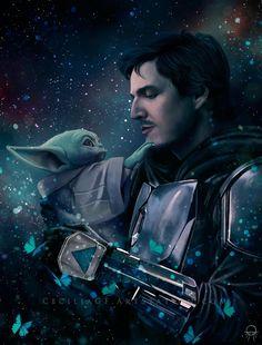 Star Wars Wallpaper, Wallpaper Iphone Disney, Cuadros Star Wars, Star Wars Drawings, Star Wars Fan Art, Star Trek, Pedro Pascal, Star Wars Pictures, Star Wars Baby