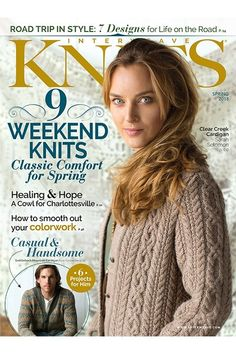 Learn knitting techniques including how to maintain your gauge and smooth out your knitting colorwork with this Spring issue of Interweave Knits! Vogue Knitting, Knitting Books, Crochet Books, Free Knitting, Knitting Projects, Knit Crochet, Knitting Magazine, Crochet Magazine, Knitting Patterns