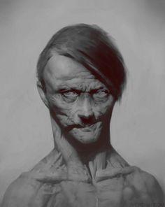 Portrait, Maxim Verehin on ArtStation at https://www.artstation.com/artwork/NanZz