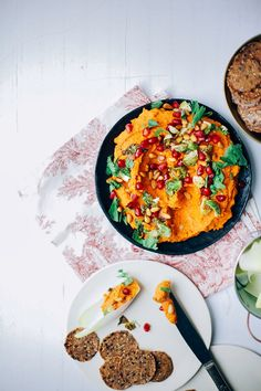 roasted carrot, chickpea + harissa dip // via thefirstmess.com