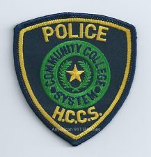 Police - Houston Community College System (H.C.C.S.) Patch (TX)