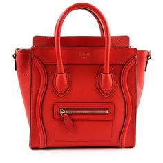 f3a525244aba Buy your nano luggage leather handbag CÉLINE on Vestiaire Collective