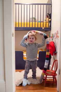 #smallkidsroom Kids rooms made out of a walk in cupboard.