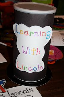 Lincolns hat (Oatmeal container wrapped in black paper!!!)  :}