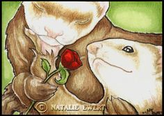 The+Ferret+Lovers+Art+Print+5x7+inch+by+natamon+on+Etsy,+$7.00
