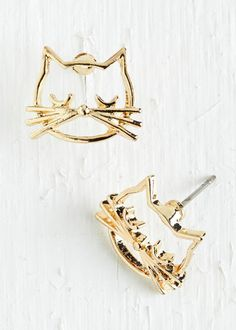These cool cat earrings: | 29 Impossibly Stylish Cat Gifts, In Order Of Awesomeness