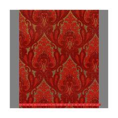 Sample of Burgundy and Red Kismet Ornate Indian Damask Velvet Flocked... (14 AUD) ❤ liked on Polyvore featuring home, home decor, wallpaper, damask home decor, velvet damask wallpaper, ornate wallpaper, red velvet wallpaper and velvet flocked wallpaper