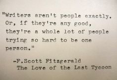 F SCOTT FITZGERALD Quote Made On Typewriter by PoetryBoutique, $9.00