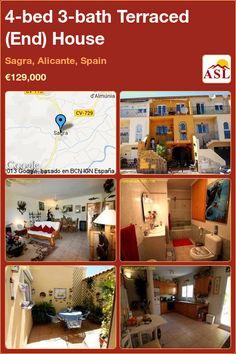 4-bed 3-bath Terraced (End) House in Sagra, Alicante, Spain ►€129,000 #PropertyForSaleInSpain