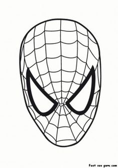 printable superheroes spiderman maske coloring pages printable coloring pages for kids - Coloring Pages Superheroes Symbols