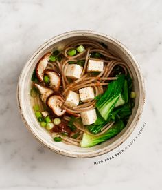 miso soba soup. I'm don't recognize several ingredients, but it looks good. I'll have to look them up.