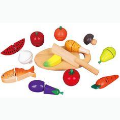 Wooden Cutting Food Set - Viga: Amazon.co.uk: Toys & Games