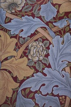 William Morris painting on mono deluxe Needlepoint by Venneart