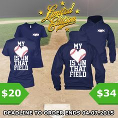 http://teespring.com/love-field The ultimate must-have for all the Baseball Moms out there! Only available for a LIMITED TIME, so get yours TODAY! Keep in mind this design is NOT SOLD IN STORES, and only in our webshop.