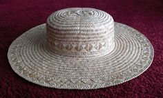 Hawaiian lauhala hat anoni - Cherie Okada-Carlson