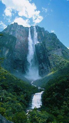 Angel Falls Canaima National Park, Venezuela.  https://www.youtube.com/watch?v=8x-3r5fjIr4