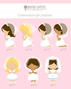 Girl First Communion Invitation