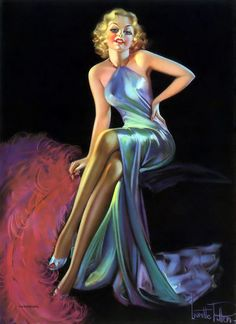 "Laurette Patten - ""Charming"" 1930's Pin Up Drawings, Pin Up Poses, Art Deco Print, Blonde Women, 1930s, Formal Dresses, Irene, Prints, Vintage"