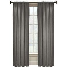 L Grey Rod Pocket Curtain Jayson Demor Do You Think These Would Be Too Dark I Like Them Bc There Is A Faint Pattern On