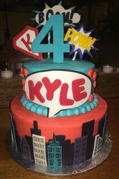 Super Hero's Birthday Cake