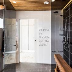 """""""La porte de l'invisible doit être visible."""" René Daumal  Porte Syntesis® Line Coulissant"""
