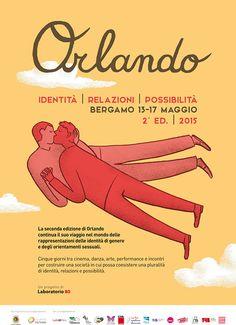 Cartel de Giulia Sagramola para el festival de cine Orlando (Bérgamo, Italia)