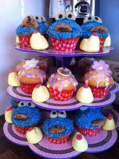 Cutest Cookie Monster Muffins
