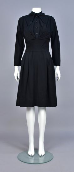 Dress, wool, Claire McCardell designer, American, 1950s
