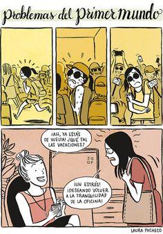 Problemas del primer mundo: vacaciones. #humor #risa #graciosas #chistosas #divertidas