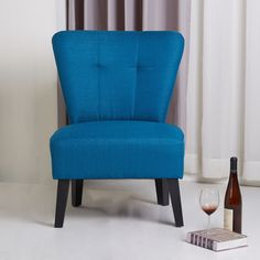 Porter Maddie Blue Modern Contemporary Accent Chair