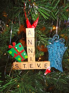 Sisters on Blackwell: Scrabble Ornaments